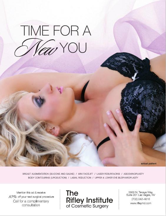 Shoot for Magazine Ad in Luxury Las Vegas Magazine